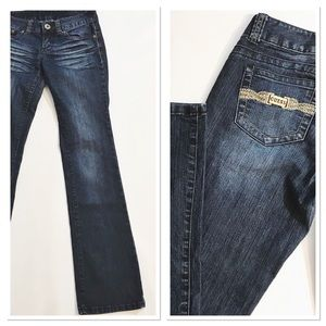 Guess Jeans with gold hardware on pockets Sz 27